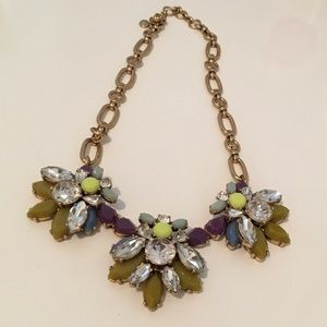 FINAL SALE J. Crew multicolor statement necklace